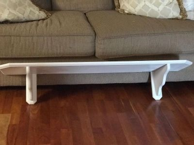 White wood shelf $25 49 x12 PPU in Pace Only