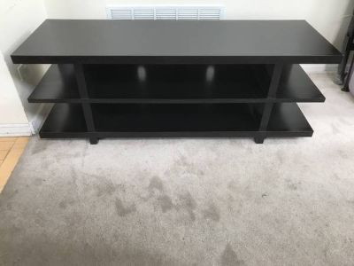 Dark Brown Three Level Open Ended TV Stand