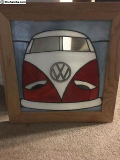 VW Split window bus Glass in Wood frame
