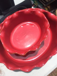 Gorgeous Red Serving Dishes