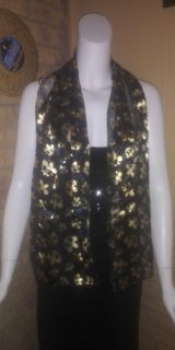 Black and Gold Scarfs