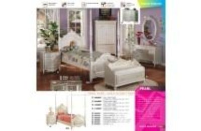 ACME 01003 CANOPY PEARL WH POSTER TWIN CANOPY