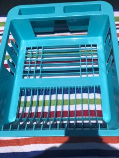 Teal dish drainer. Porch Pick up Available. Staples Mill at 295.
