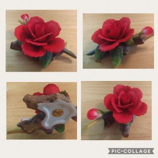 Retired Andrea Red Rose Figurine