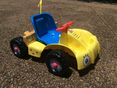 Fisher Price Spongebob Squarepants Power Wheels Toddler Go Kart Car