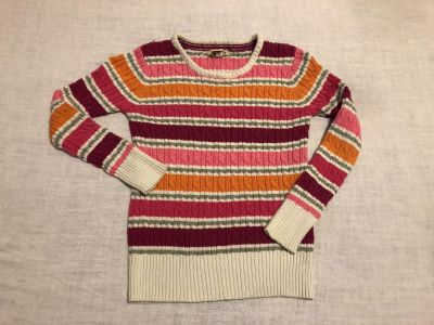 Cherokee Ribbed Sweater. Size Large (10/12). Cotton/Sparkly Fibers. EUC