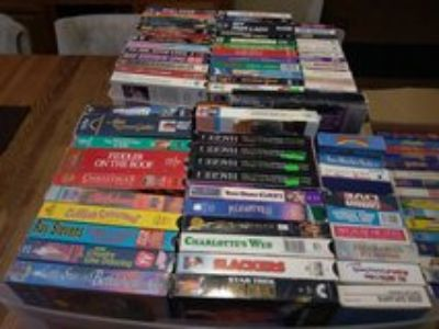 hundreds of vhs movies