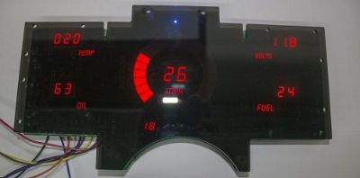 Find Chevy Truck DIGITAL DASH PANEL For 1988-1991 Gauges GMC Intellitronix RED LEDs! motorcycle in Eastlake, Ohio, United States, for US $200.02