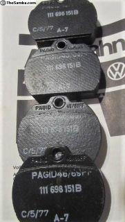 Brake Pads Autobahn 1973-1974:NOS