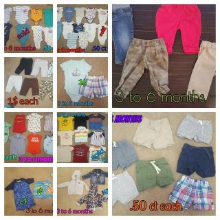 Baby boy clothes 3 to 12 months