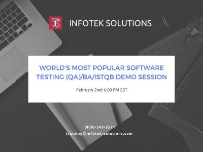 Software Testing/QA/BA/ISTQB Certification Demo Session