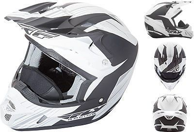 Purchase Fly Racing Kinetic Pro Matte White Black Cold Weather ATV MX Snowmobile Helmet motorcycle in Golden, Colorado, United States, for US $125.96