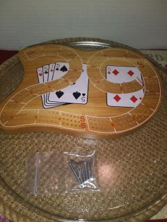 Cribbage Board with Steel pegs