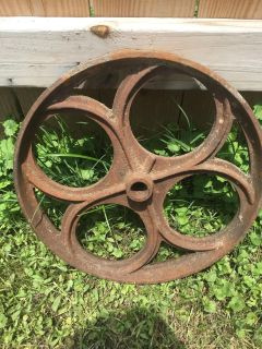 Antique Cast iron pulley