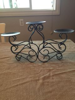Candle holder-silver/gray