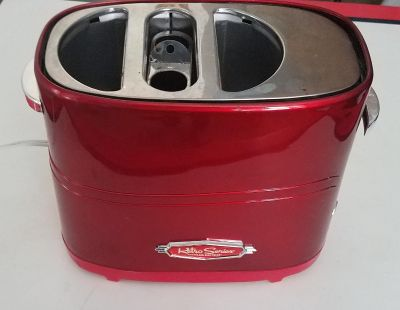 Red Retro Hot Dog and Bun Toaster