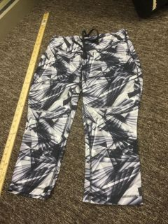 Women s size small yoga pants, gray, white and black in GUC $3.00