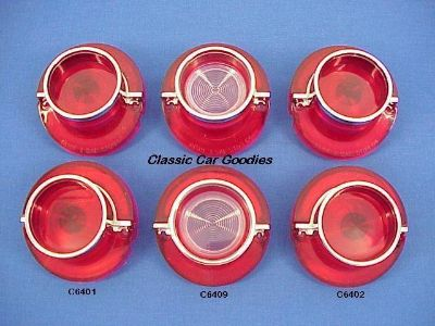 Find 1964 Chevy Impala Tail Light & Back Up Lenses (6) Chrome Bezels motorcycle in Aurora, Colorado, US, for US $109.99