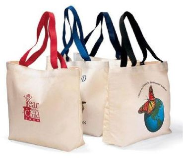 100% Organic Cotton Shopping Bag / Canvas Tote Bag/ Grocery Bag