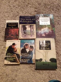Nicholas Sparks books $2 each. All for $10