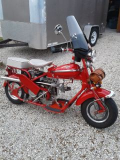 1952 Cushman Eagle Scooter model 765, loaded, partial TRADES?