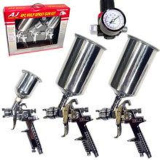Buy 4Pc Pro AIR HVLP Paint Spray GUN SET Auto Car Painting Automotive Tools motorcycle in Chino Hills, California, US, for US $54.95