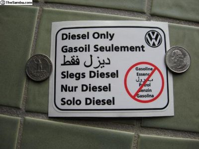 Diesel sticker all languages VW original / Syncro