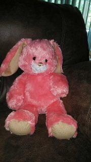Build a Bear bunny coral colored