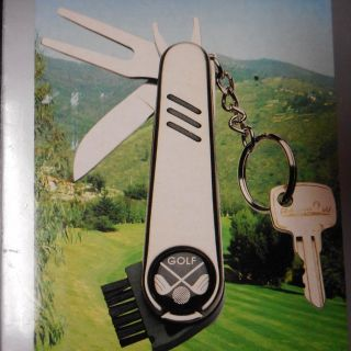 All Purpose Golf Tool Key Chain KT-500 Pocket Gift (Boughton ALS Foundation) NIB