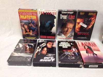 Set of 8. VHS Movies. Action Pick up at Target in McCalla on Thursdays 5:15 to 6:00pm.