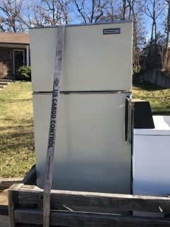 Refrigerator , washer, and dryer.