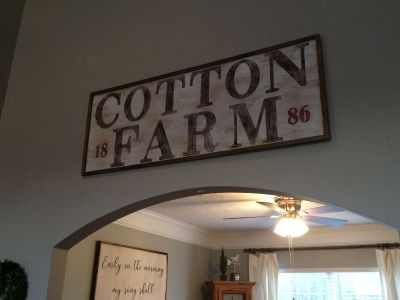 Farmhouse hand painted sign