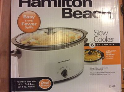 Hamilton Beach slow cooker 6quart