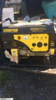 For Trade: Champion 4500 starting watts generator