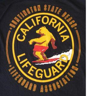 *~~ Tee Shirt ~ Huntington State Beach Lifeguard ~ Bear on Surfboard ~~*