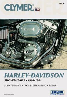 Find 1966-1984 Harley Davidson Shovelheads CLYMER MANUAL H-D SHOVELHEADS 66-84 M420 motorcycle in Ellington, Connecticut, US, for US $36.95