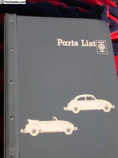 Parts List - 1964 Type 1 - Mint