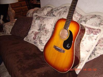 epiphone flat top guitar