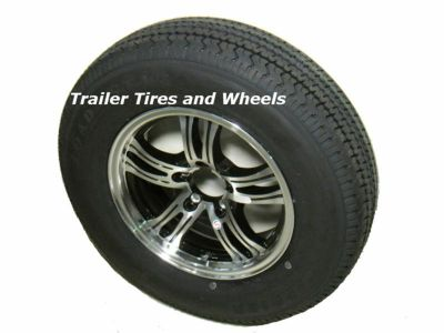 "Buy PBK 205/75R15 LRD 8 PR Radial Trailer Tire on 15"" 5 Lug Aluminum Trailer Wheel motorcycle in Edon, Ohio, US, for US $199.00"