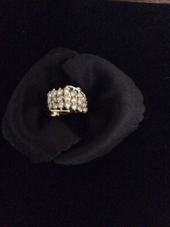 10k Waterfall Cluster Ring