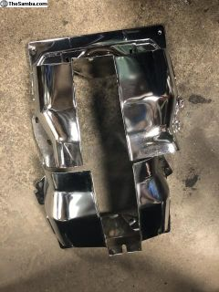 1600 Dual Port Chrome Cylinder Covers New Pair