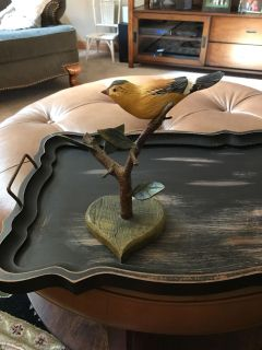 Decorative bird stands 10 inches tall