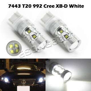 Find HID White CREE XB-D For Car Backup Reverse Lights T20 7440 992 LED Bulbs 60W motorcycle in Cupertino, CA, US, for US $39.89