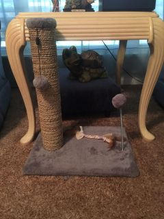 Small cat scratch and play center