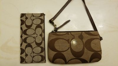 Coach clutch purse and credit card wallet