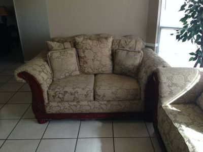 Ashleys couch and love seat