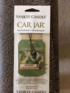 "New. Yankee Candle ""Holiday Bayberry"" car air freshener"