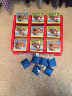 Paw patrol bean bags toss game