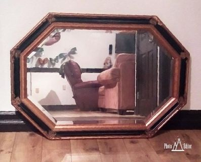 Gold and Black Wall Mirror