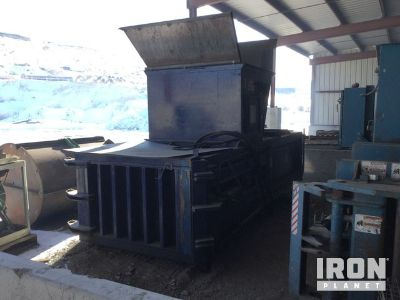 Cram-A-Lot HE-60 Baler w/ Hydraulic Power Unit and Conveyors